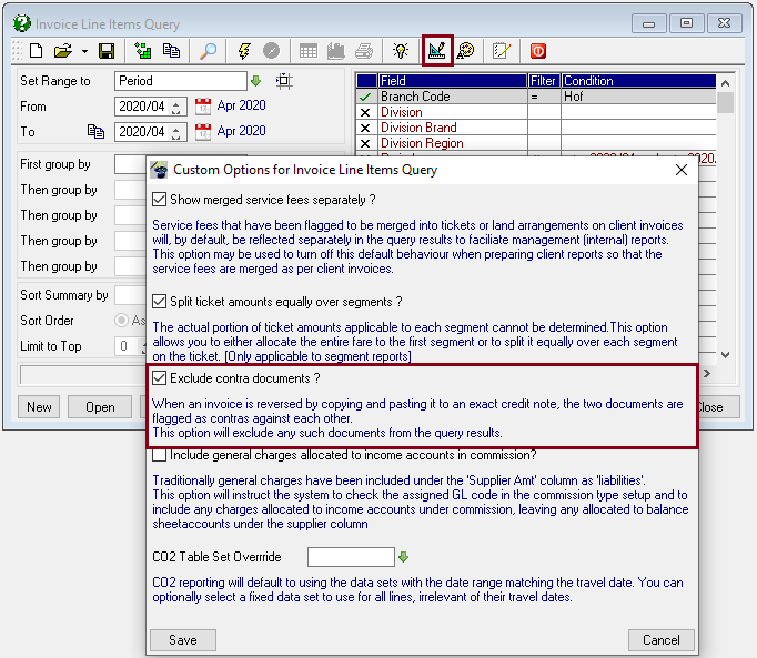 Quick-Software-Line-Items-Custom-Options-Exclude-Contra-Dcuments